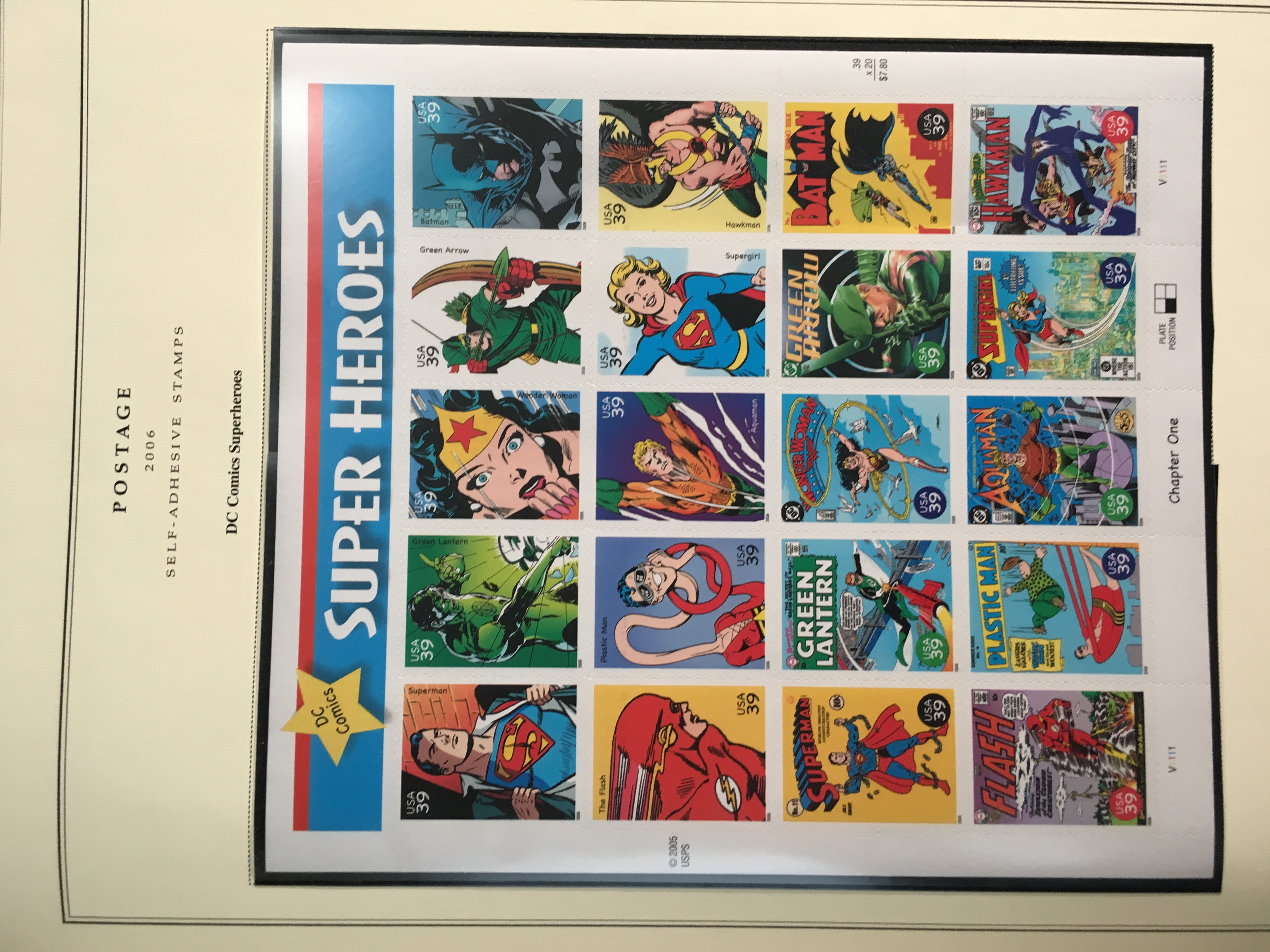 DC Super Hero Stamps